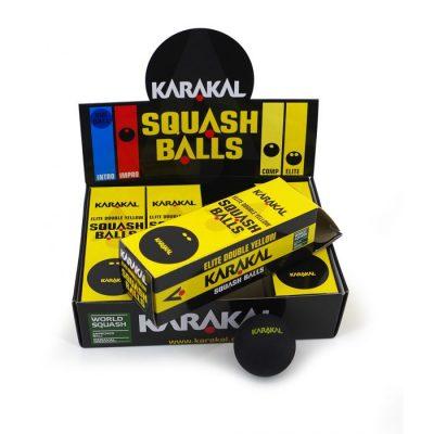 Karakal Double Yellow Dot Squash Balls 1
