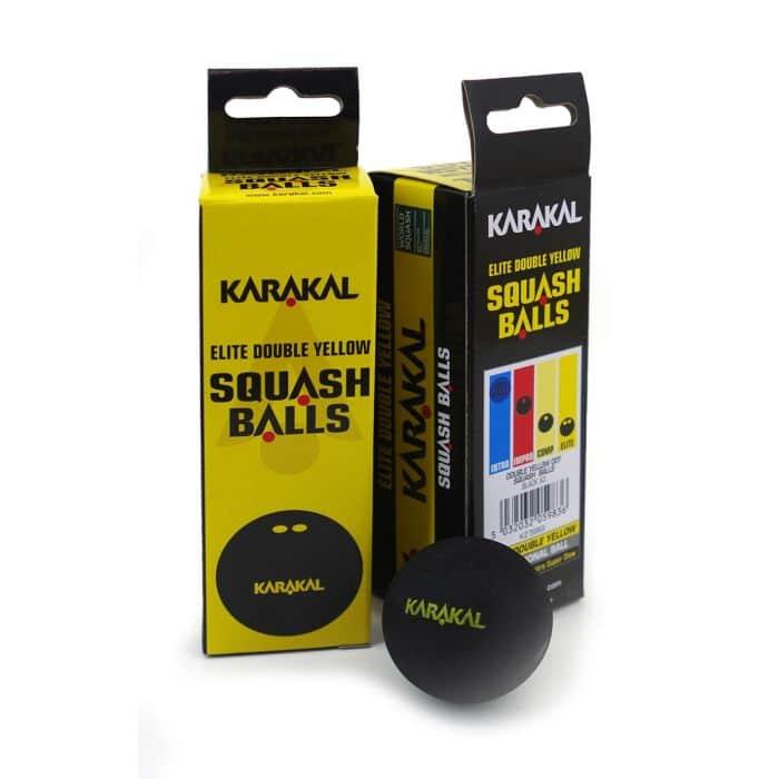 Karakal Double Yellow Dot Squash Balls 2