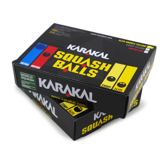 Karakal Double Yellow Dot Squash Balls 3