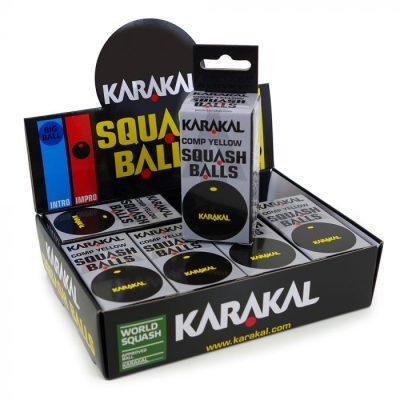 Karakal Yellow Dot Squash Balls 1