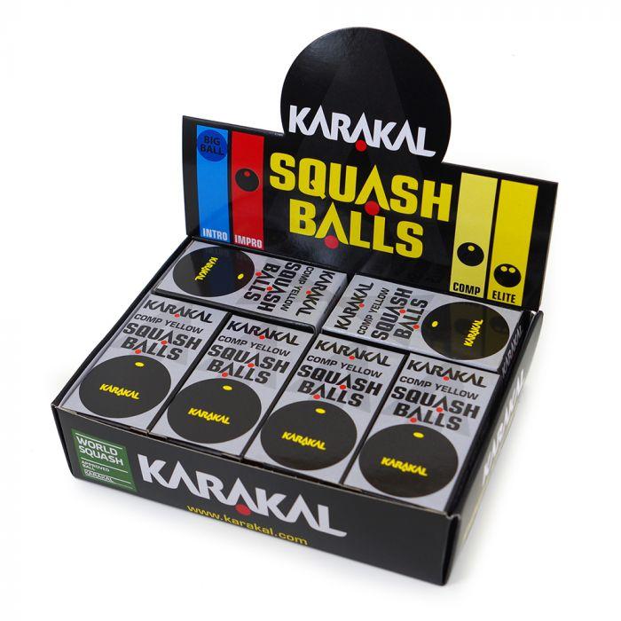Karakal Yellow Dot Squash Balls 2