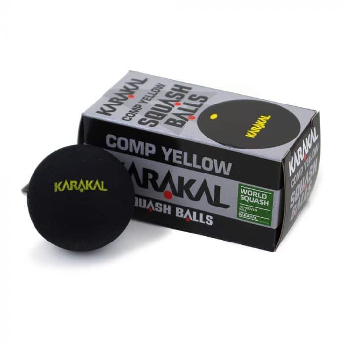 Karakal Yellow Dot Squash Balls 3