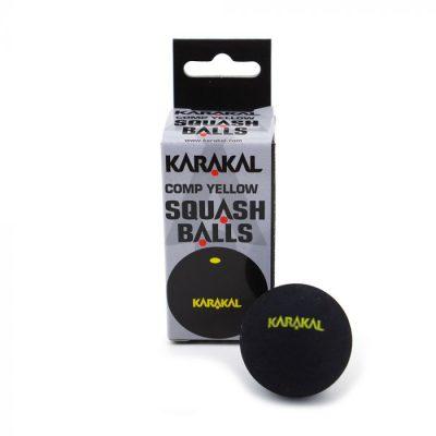Karakal Yellow Dot Squash Balls 4