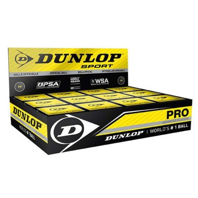 Dunlop Competition Squash Balls Ball duble Yellow Dot