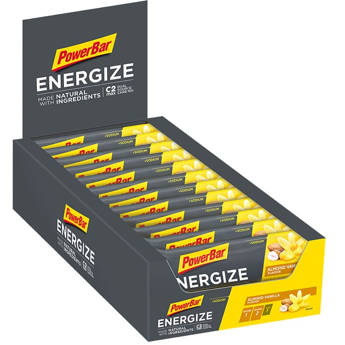 PowerBar  Energize  made with  Tray  Almond Vanilla  700