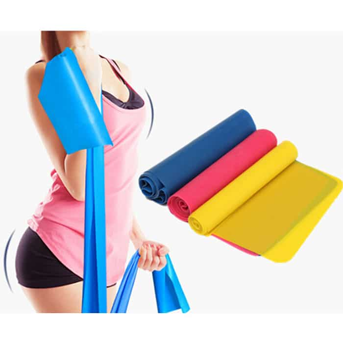 best price 3 colors exercise pilates yoga workout physio aerobics resistance stretch band 1 1 1 1 1