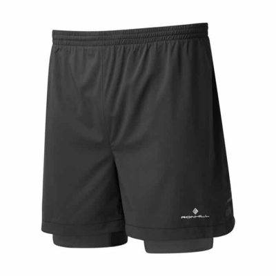 r009  all black mens stride twin 5 short 1