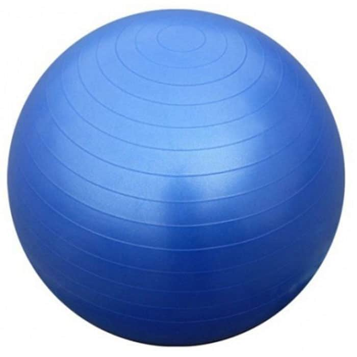 GYM BALL ANTI BURST 75 CM 1300GR ΜΠΛΕ 1