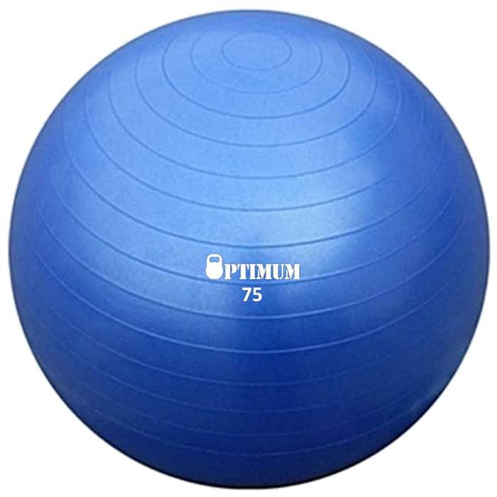GYM BALL ANTI BURST 75 CM 1300GR ΜΠΛΕ 2
