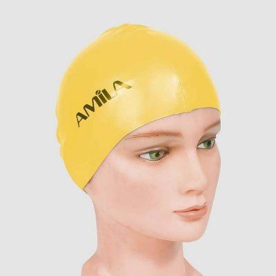 Σκουφάκια πισίνας απλά μονόχρωμα Κίτρινο 1