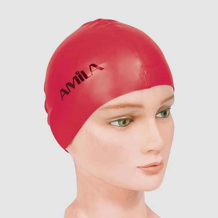 Σκουφάκια πισίνας απλά μονόχρωμα Κόκκινο 1