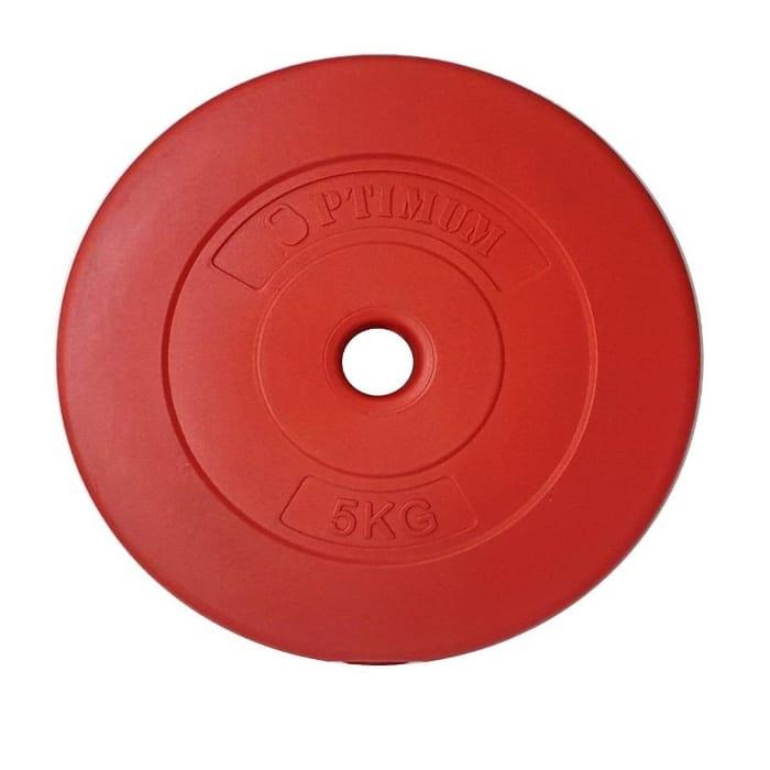 Δίσκος Πλαστικοποιημένος 5KgΚόκκινο Optimum 1