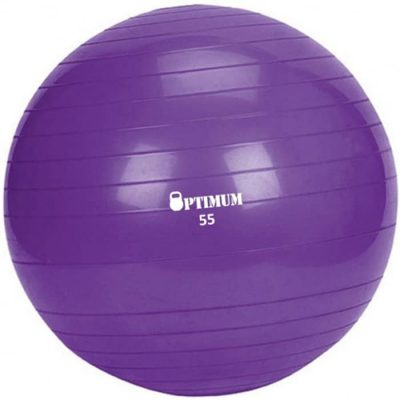 GYM BALL ANTI BURST 55 CM 900GR ΜΟΒ 1A