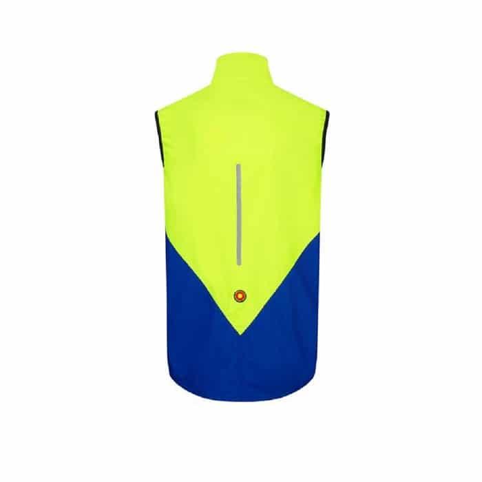 Ronhill Vizion windlite Gilet Back Yellow Cobalt mens