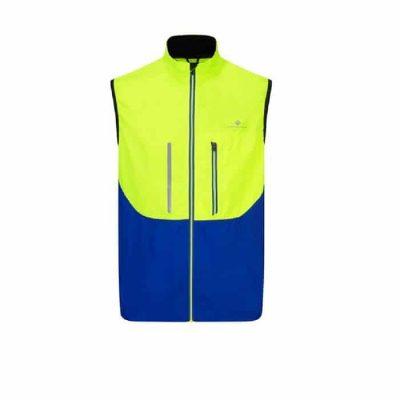 Ronhill Vizion windlite Gilet Front Yellow Cobalt