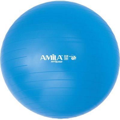 Μπάλα Γυμναστικής AMILA GYMBALL 65cm Μπλε 1A
